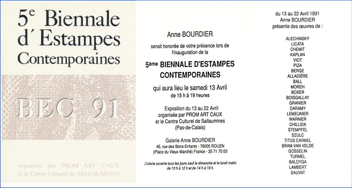 Biennale Galerie  Anne Bourdier